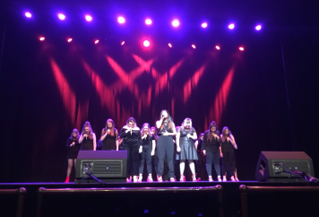 Fusion sings on ICCA Finals stage